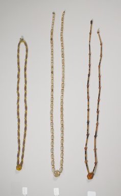 <em>String of Beads for Hat (Gatkkeun)</em>, late 19th-early 20th century. Crystal, citrine, 24 3/16 in. (61.5 cm). Brooklyn Museum, Brooklyn Museum Collection, X1152. Creative Commons-BY (Photo: , CUR.X1152_X1153_X1154_Collins_photo_NRICH.jpg)