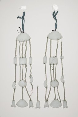 <em>Pair of Jade Pendants (Paeok)</em>, 19th century. Jade, string, Each: 18 7/8 x 3 15/16 in. (48 x 10 cm). Brooklyn Museum, Brooklyn Museum Collection, X1156a-b. Creative Commons-BY (Photo: Brooklyn Museum (in collaboration with National Research Institute of Cultural Heritage, , CUR.X1156a-b_Collins_photo_NRICH.jpg)
