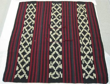 Mapuche. <em>Poncho</em>, 20th century. Wool, 66 1/4 x 63 in. (168.3 x 160 cm). Brooklyn Museum, Brooklyn Museum Collection, X1177. Creative Commons-BY (Photo: Brooklyn Museum, CUR.X1177_view2.jpg)