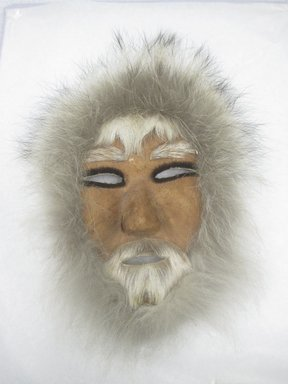 Possibly Eskimo. <em>Mask</em>, after 1951. Fur, hide (Caribou?), 10 1/2 x 7 in. (26.7 x 17.8 cm). Brooklyn Museum, Brooklyn Museum Collection, X1194. Creative Commons-BY (Photo: Brooklyn Museum, CUR.X1194.jpg)
