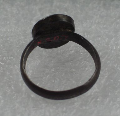 <em>Ring with Magic Gem</em>. Gem, iron, Overall diameter: 7/8 in. (2.3 cm). Brooklyn Museum, Brooklyn Museum Collection, X20.7. Creative Commons-BY (Photo: Brooklyn Museum, CUR.X20.7_back.jpg)