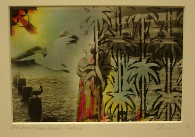 Loren Elizabeth Ellis (American, born 1953). <em>Miami Beach-Cardozo</em>, ca. 1980. Photo-montage (hand printed and painted), 8 x 10 in. (20.3 x 25.4 cm). Brooklyn Museum, Gift of the artist, 2013.52.2. © artist or artist's estate (Photo: Brooklyn Museum, CUR.X2006.2281.jpg)