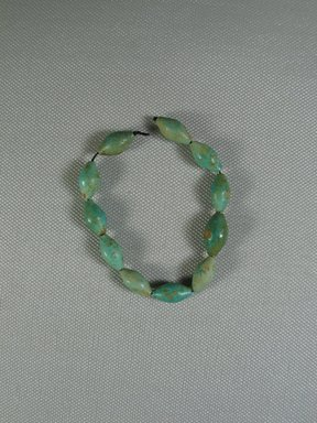 <em>Bracelet of Beads</em>, ca. 1539-1075 B.C.E. Faience, glazed, Total length: 7 1/16 in. (18 cm). Brooklyn Museum, Brooklyn Museum Collection, X249.3. Creative Commons-BY (Photo: Brooklyn Museum, CUR.X249.3_view1.jpg)