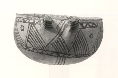 Cypriot. <em>Open Bowl</em>, 1700-1600 B.C.E. Clay, slip, 2 7/16 x Diam. 4 1/2 in.  (6.2 x 11.5 cm). Brooklyn Museum, Brooklyn Museum Collection, X469. Creative Commons-BY (Photo: Brooklyn Museum, CUR.X469_print_NegA_bw.jpg)