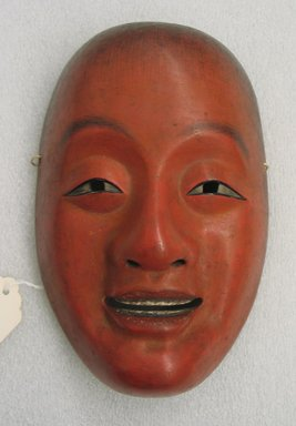 <em>Noh Theatre Shoujou Mask</em>, late 19th century. Carved painted wood, 8 1/16 x 5 1/4 in.  (20.5 x 13.3 cm). Brooklyn Museum, Brooklyn Museum Collection, X532. Creative Commons-BY (Photo: Brooklyn Museum, CUR.X532_view1.jpg)