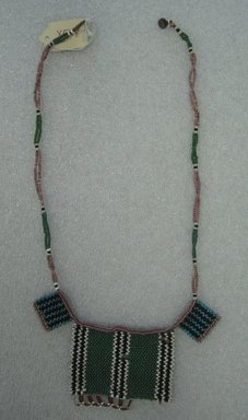 Zulu. <em>Neck Ornament</em>, early 20th century. Glass seed beads, Length: 23 1/8 in (58.7cm). Brooklyn Museum, Brooklyn Museum Collection, X588. Creative Commons-BY (Photo: Brooklyn Museum, CUR.X588_overall.jpg)
