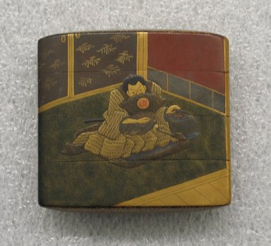 Koma Kyo Haku (Japanese). <em>Inro and Ojime</em>, late 19th century. Lacquer, 2 3/4 x 3 in.  (7.0 x 7.6 cm). Brooklyn Museum, Brooklyn Museum Collection, X637.2. Creative Commons-BY (Photo: Brooklyn Museum, CUR.X637.2_view1.jpg)