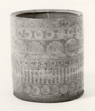<em>Water Jar</em>, 17th century. Ceramic, Yatsushiro ware, 5 5/8 x 5 1/4 in.  (14.3 x 13.3 cm). Brooklyn Museum, Brooklyn Museum Collection, X639.6. Creative Commons-BY (Photo: Brooklyn Museum, CUR.X639.6_bw.jpg)