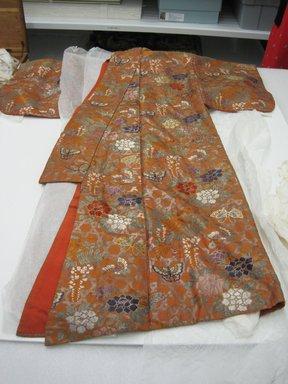 <em>Noh Robe</em>, 19th century. Silk, 58 x 59 1/2 in.  (147.3 x 151.1 cm). Brooklyn Museum, Brooklyn Museum Collection, X640.2. Creative Commons-BY (Photo: Brooklyn Museum, CUR.X640.2.jpg)