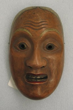 <em>Theatrical Mask</em>. Wooden with gesso, lacquer, 8 5/16 x 4 15/16 x 2 3/4 in. (21.1 x 12.5 x 7 cm). Brooklyn Museum, Brooklyn Museum Collection, X678.12. Creative Commons-BY (Photo: Brooklyn Museum, CUR.X678.12_view1.jpg)