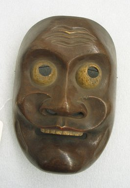 <em>Theatrical Mask</em>. Wooden, with polychrome, 7 5/8 x 5 5/16 x 2 7/8 in. (19.3 x 13.5 x 7.3 cm). Brooklyn Museum, Brooklyn Museum Collection, X678.7. Creative Commons-BY (Photo: Brooklyn Museum, CUR.X678.7_view1.jpg)