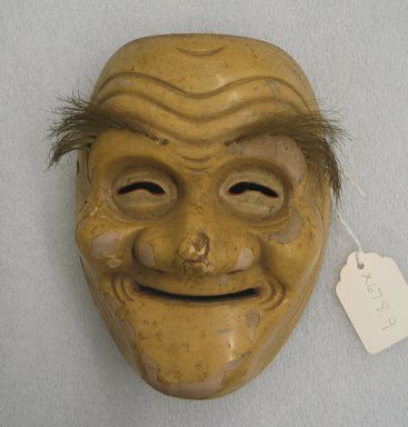 <em>Theatrical Mask</em>. Wooden with lacquer, 7 1/16 x 5 1/8 x 3 3/8 in. (18 x 13 x 8.6 cm). Brooklyn Museum, Brooklyn Museum Collection, X678.9. Creative Commons-BY (Photo: Brooklyn Museum, CUR.X678.9_view1.jpg)