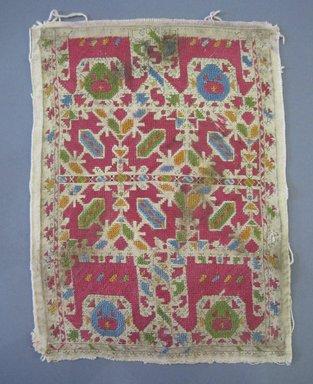<em>Two Textiles</em>, 19th century. Linen, silk thread, a: 10 1/2 x 13 1/2 in. (26.7 x 34.3 cm). Brooklyn Museum, Brooklyn Museum Collection, X77a-b. Creative Commons-BY (Photo: , CUR.X77b.jpg)