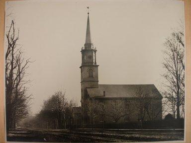 George Bradford Brainerd (American, 1845-1887). <em>Dutch Reform Church, Flatbush 1877</em>, 1887, printed 1940. Gelatin silver photograph, image: 10 1/2 x 13 3/4 in. (26.7 x 34.9 cm). Brooklyn Museum, Brooklyn Museum Collection, X894.143 (Photo: Brooklyn Museum, CUR.X894.143.jpg)