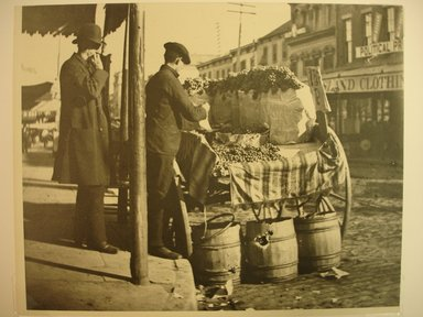 George Bradford Brainerd (American, 1845-1887). <em>The Grape Vendor</em>, ca. 1886, printed 1940s. Gelatin silver photograph, 8 x 10 in. (20.3 x 25.4 cm). Brooklyn Museum, Brooklyn Museum Collection, X894.145 (Photo: Brooklyn Museum, CUR.X894.145.jpg)