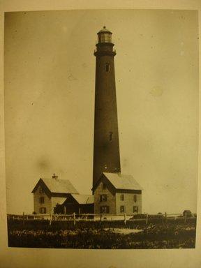 George Bradford Brainerd (American, 1845-1887). <em>Lighthouse, Good Ground</em>, ca. 1880s; printed 1940s. Gelatin silver photograph, image: 9 1/4 x 7 1/4 in. (23.5 x 18.4 cm). Brooklyn Museum, Brooklyn Museum Collection, X894.158b (Photo: Brooklyn Museum, CUR.X894.158b.jpg)