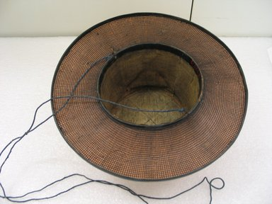 <em>Hat</em>, 19th century. Cotton, 4 1/2 x 11in. (11.4 x 27.9cm). Brooklyn Museum, Brooklyn Museum Collection, X923.3. Creative Commons-BY (Photo: Brooklyn Museum, CUR.X923.3_bottom.jpg)