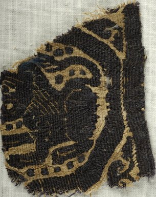 Coptic. <em>Square Fragment with Animal and Botanical Decoration</em>, 7th century C.E. Flax, wool, 2 1/4 x 1 7/8 in. (5.7 x 4.8 cm). Brooklyn Museum, Brooklyn Museum Collection, X933. Creative Commons-BY (Photo: Brooklyn Museum (in collaboration with Index of Christian Art, Princeton University), CUR.X933_ICA.jpg)