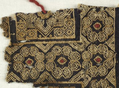 Coptic. <em>Fragment with Animal and Geometric Decoration</em>, 5th-7th century C.E. Wool, 5 1/2 x 7 in. (14 x 17.8 cm). Brooklyn Museum, Brooklyn Museum Collection, X939. Creative Commons-BY (Photo: Brooklyn Museum (in collaboration with Index of Christian Art, Princeton University), CUR.X939_detail01_ICA.jpg)