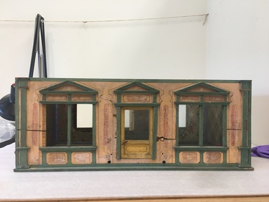 Christian Hacker (1835-1927). <em>Dollhouse with Contents</em>, ca. 1885. Wood, paper, metal, ceramic, glass, textiles, 37 x 31 x 19 in. (94 x 78.7 x 48.3 cm). Brooklyn Museum, Gift of the Cain family in loving memory of Elizabeth Chase Lambert Cain by her daughter-in-law, Elizabeth Peaslee Cain and her grandchildren, Stephen L. Cain, David H. Cain, Robert W. Cain, and Mary Cain Taylor