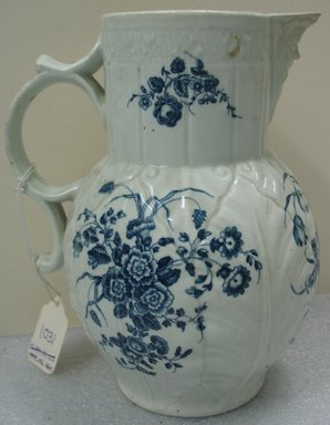 Worcester Royal Porcelain Co. (founded 1751). <em>Jug</em>, ca. 1775. Porcelain, 8 1/2 x 7 1/4 x 6 in. (21.6 x 18.4 x 15.3 cm). Brooklyn Museum, Gift of the Estate of Harold S. Keller, 1999.152.260. Creative Commons-BY (Photo: Brooklyn Museum, CUR1999.152.260.jpg)