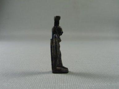 <em>Figure of Nephthys</em>, 664–332 B.C.E. Lapis lazuli, 1 5/16 x 5/16 x 7/16 in. (3.4 x 0.9 x 1.1 cm). Brooklyn Museum, Charles Edwin Wilbour Fund, 37.1086E. Creative Commons-BY (Photo: Brooklyn Museum, CUR_37.1086E_view02.jpg)