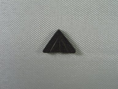 <em>Amulet Representing a Mason's Level</em>, 664–332 B.C.E. Hematite, 11/16 x 3/16 x 7/8 in. (1.7 x 0.5 x 2.2 cm). Brooklyn Museum, Charles Edwin Wilbour Fund, 37.1178E. Creative Commons-BY (Photo: Brooklyn Museum, CUR_37.1178E_view01.jpg)