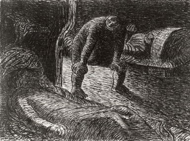 Ernst Barlach (German, 1870-1938). <em>The Troll (Der Alb)</em>, 1912. Lithograph on wove buff paper, Image: 8 x 10 13/16 in. (20.3 x 27.5 cm). Brooklyn Museum, Gift of Dr. F.H. Hirschland, 55.165.104 (Photo: Brooklyn Museum, Cur.55.165.104.jpg)