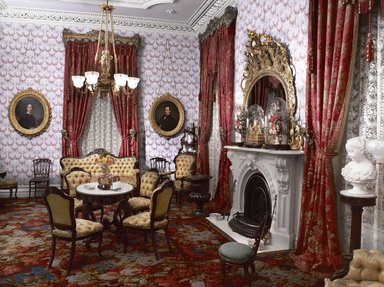 <em>Colonel Robert J. Milligan House Parlor</em>, 1854-1856. Brooklyn Museum, Dick S. Ramsay Fund, 40.930. Creative Commons-BY (Photo: Brooklyn Museum, DIG_E_2014_Milligan_Room_01_PS9_40.930.jpg)