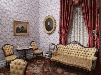 <em>Colonel Robert J. Milligan House Parlor</em>, 1854-1856. Brooklyn Museum, Dick S. Ramsay Fund, 40.930. Creative Commons-BY (Photo: Brooklyn Museum, DIG_E_2014_Milligan_Room_04_PS9_40.930.jpg)