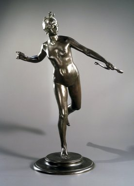 Frederick William MacMonnies (American, 1863-1937). <em>Diana</em>, 1890. Bronze, Overall: 30 3/8 x 20 7/8 x 16 3/4 in. (77.2 x 53 x 42.5 cm). Brooklyn Museum, Gift of William C. Brown, 2005.31. Creative Commons-BY (Photo: Brooklyn Museum, L1995.6_transp2993.jpg)