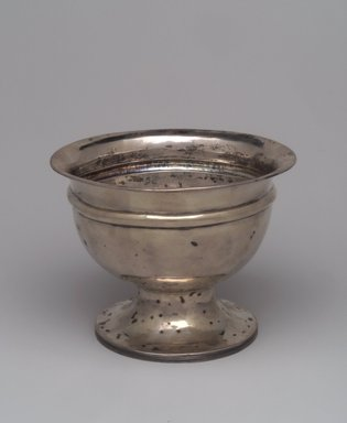 Attributed to Nehemiah Bassett (Maker) (active ca. 1795-1819). <em>Bowl</em>, ca. 1825. Silver, 5 1/2 x 7 1/8 x 7 1/8 in.  (14.0 x 18.1 x 18.1 cm). Lent by Wunsch Americana Foundation, Inc., L1999.7. Creative Commons-BY (Photo: Brooklyn Museum, L1999.7.jpg)
