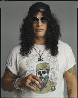 Timothy Greenfield-Sanders (American, born 1952). <em>Slash</em>, 2007. Ink-jet print, 58 x 44 in. (147.3 x 111.8 cm). Brooklyn Museum, Gift of Michael Sloane, 2016.8.2. © artist or artist's estate (Photo: Brooklyn Museum, L2009.6.17_PS6.jpg)
