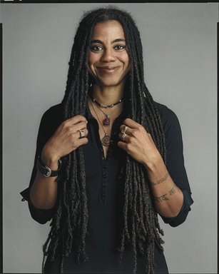 Timothy Greenfield-Sanders (American, born 1952). <em>Suzan-Lori Parks</em>, 2007. Ink-jet print, 58 x 44 in. (147.3 x 111.8 cm). Brooklyn Museum, Gift of Michael Sloane, 2016.8.5. © artist or artist's estate (Photo: Brooklyn Museum, L2009.6.20_PS6.jpg)