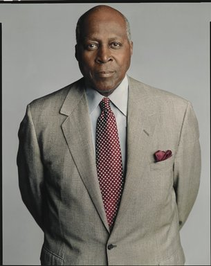 Timothy Greenfield-Sanders (American, born 1952). <em>Vernon Jordan</em>, 2007. Ink-jet print, 58 x 44 in. (147.3 x 111.8 cm). Brooklyn Museum, Gift of Michael Sloane, 2017.18.3. © artist or artist's estate (Photo: Brooklyn Museum, L2009.6.23_PS6.jpg)