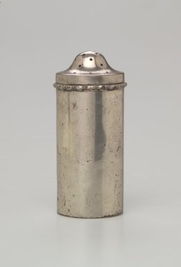 Jewish. <em>Spice Container with Lid</em>, ca. 1900. Silver, 6 3/4 x 2 1/4 x 2 1/4 in. (17.1 x 5.7 x 5.7 cm). Loaned by Jewish Cultural Reconstruction, Inc., L50.26.19a-b. Creative Commons-BY (Photo: Brooklyn Museum, L50.26.19a-b.jpg)