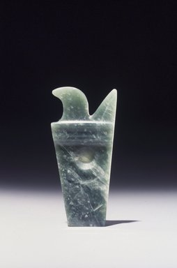 Olmec. <em>Carved Plaque</em>, 800-500 B.C.E. Jadeite, 3 3/16 x 1 1/2 x 1/4 in. (7.8 x 3.8 x 0.6 cm). Collection of Christopher B. Martin, L73.15.2. Creative Commons-BY (Photo: Brooklyn Museum, L73.15.2_transpc002.jpg)
