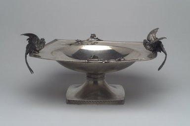 Tiffany & Company (American, founded 1853). <em>Compote</em>, ca. 1875. Silver, 6 1/4 x 13 x 11 in. (15.9 x 33 x 27.9 cm). Lent by Mr. and Mrs. George W. Cherkis, L86.7.1. Creative Commons-BY (Photo: Brooklyn Museum, L86.7.1.jpg)