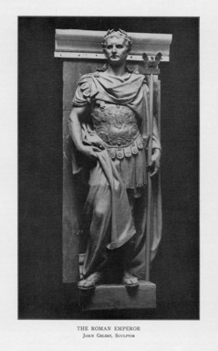 John Gelert (American, 1852-1923). <em>The Roman Emperor</em>, 1909. Indiana limestone, Approx. height: 144 in. (365.8 cm). Brooklyn Museum, Gift of the City of New York, Parks and Recreation, 09.937.28. Creative Commons-BY (Photo: , PER_Bulletin_of_the_Brooklyn_Institute_of_Arts_and_Sciences_v01_p184_09.937.28.jpg)