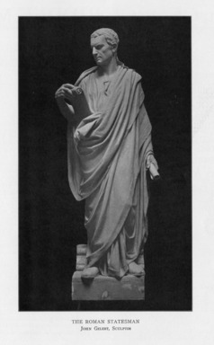 John Gelert (American, 1852-1923). <em>The Roman Statesman</em>, 1909. Indiana limestone, Approx. height: 144 in. (365.8 cm). Brooklyn Museum, Gift of the City of New York, Parks and Recreation, 09.937.27. Creative Commons-BY (Photo: , PER_Bulletin_of_the_Brooklyn_Institute_of_Arts_and_Sciences_v01_p291_09.937.27.jpg)