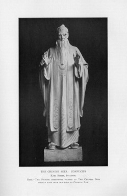 Karl Bitter (American, 1867-1915). <em>Chinese Religion</em>, 1909. Indiana limestone, Approx. height: 144 in. (365.8 cm). Brooklyn Museum, Gift of the City of New York, Parks and Recreation, 09.937.6. Creative Commons-BY (Photo: , PER_Bulletin_of_the_Brooklyn_Institute_of_Arts_and_Sciences_v01_p355_09.937.6.jpg)