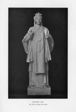 Karl Bitter (American, 1867-1915). <em>Chinese Art</em>, 1909. Indiana limestone, Approx. height: 144 in. (365.8 cm). Brooklyn Museum, Gift of the City of New York, Parks and Recreation, 09.937.8. Creative Commons-BY (Photo: , PER_Bulletin_of_the_Brooklyn_Institute_of_Arts_and_Sciences_v01_p380_09.937.8.jpg)