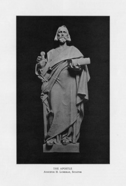 Augustus Lukeman (American, 1871-1935). <em>The Hebrew Apostle</em>, 1909. Indiana limestone, Approx. height: 144 in. (365.8 cm). Brooklyn Museum, Gift of the City of New York, Parks and Recreation, 09.937.14. Creative Commons-BY (Photo: , PER_Bulletin_of_the_Brooklyn_Institute_of_Arts_and_Sciences_v01_p503_09.937.14.jpg)