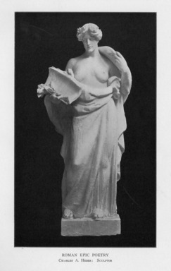 Charles Augustus Heber (American, born Germany, 1875-1956). <em>The Roman Epic</em>, 1909. Indiana limestone, Approx. height: 144 in. (365.8 cm). Brooklyn Museum, Gift of the City of New York, Parks and Recreation, 09.937.30. Creative Commons-BY (Photo: , PER_Bulletin_of_the_Brooklyn_Institute_of_Arts_and_Sciences_v02_p017_09.937.30.jpg)