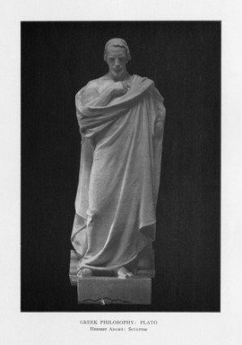 Herbert Adams (American, 1858-1945). <em>Greek Philosophy</em>, 1909. Indiana limestone, Approx. height: 144 in. (365.8 cm). Brooklyn Museum, Gift of the City of New York, Parks and Recreation, 09.937.22. Creative Commons-BY (Photo: , PER_Bulletin_of_the_Brooklyn_Institute_of_Arts_and_Sciences_v02_p166_09.937.22.jpg)