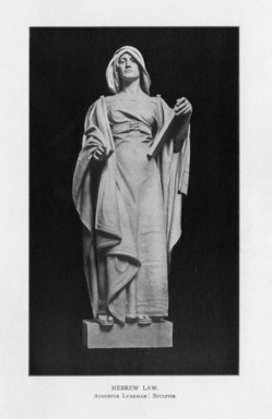 Augustus Lukeman (American, 1871-1935). <em>The Hebrew Law Giver</em>, 1909. Indiana limestone, Approx. height: 144 in. (365.8 cm). Brooklyn Museum, Gift of the City of New York, Parks and Recreation, 09.937.11. Creative Commons-BY (Photo: , PER_Bulletin_of_the_Brooklyn_Institute_of_Arts_and_Sciences_v02_p226_09.937.11.jpg)