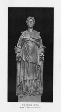 George Thomas Brewster (American, 1862-1943). <em>The Greek Drama</em>, 1909. Indiana limestone, Approx. height: 144 in. (365.8 cm). Brooklyn Museum, Gift of the City of New York, Parks and Recreation, 09.937.18. Creative Commons-BY (Photo: , PER_Bulletin_of_the_Brooklyn_Institute_of_Arts_and_Sciences_v02_p414_09.937.18.jpg)
