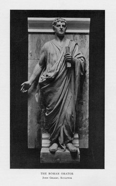 John Gelert (American, 1852-1923). <em>The Roman Orator</em>, 1909. Indiana limestone, Approx. height: 144 in. (365.8 cm). Brooklyn Museum, Gift of the City of New York, Parks and Recreation, 09.937.29. Creative Commons-BY (Photo: Brooklyn Museum, PER_Bulletin_of_the_Brooklyn_Institute_of_Arts_and_Sciences_v1_p102_09.937.29.jpg)