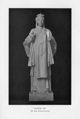 Karl Bitter (American, 1867-1915). <em>Chinese Art</em>, 1909. Indiana limestone, Approx. height: 144 in. (365.8 cm). Brooklyn Museum, Gift of the City of New York, Parks and Recreation, 09.937.8. Creative Commons-BY (Photo: Brooklyn Museum, PER_Bulletin_of_the_Brooklyn_Institute_of_Arts_and_Sciences_v1_p380_09.937.8.jpg)