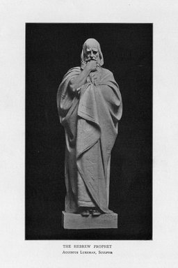 Augustus Lukeman (American, 1871-1935). <em>The Hebrew Prophet</em>, 1909. Indiana limestone, Approx. height: 144 in. (365.8 cm). Brooklyn Museum, Gift of the City of New York, Parks and Recreation, 09.937.13. Creative Commons-BY (Photo: Brooklyn Museum, PER_Bulletin_of_the_Brooklyn_Institute_of_Arts_and_Sciences_v1_p468_09.937.13.jpg)